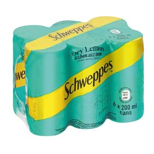 Schweppes Dry Lemon Can 200ml x 6