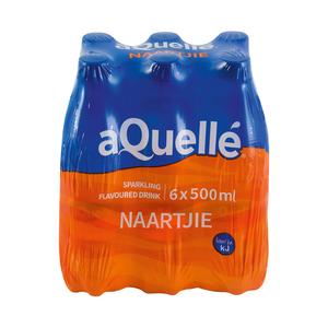 Aquelle Naartjie Flavoured Mineral Water 500ml x 6