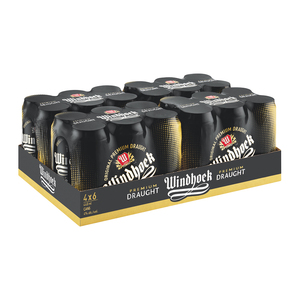Windhoek Draught Can 440 ml x 24