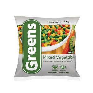 Greens Mixed Vegetables 1kg