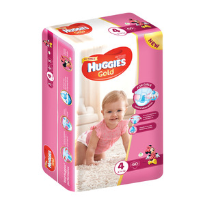 Huggies Gold Girl 8-14kg Size 4 60s