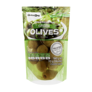 PnP Green Pitted Olives 200gr