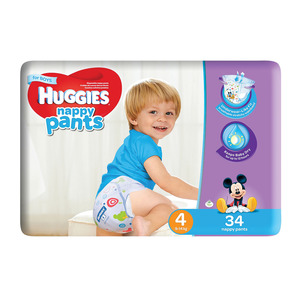 Huggies Nappy Pants Boy Size 4 34s