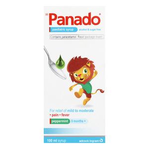Panado Alcohol & Sugar Free Paediatric Syrup 100ml