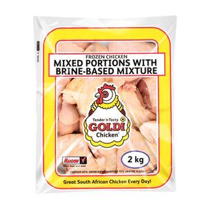 Goldi Iqf Mixed Portions 15% Brine 2kg