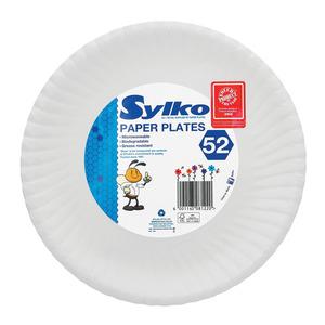 Sylko Paper Plates 230mm 50s