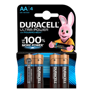 Duracell Batteries Ultra Pow er AA 4 4