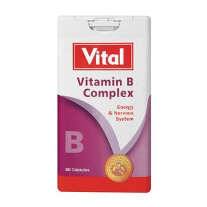 Vital Vitamin B Complex High Potency Tablets 60ea