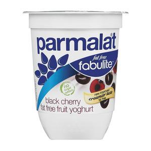 Fabulite Fat Free Black Cherry Fruit Yoghurt 175g