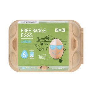 PnP Large Free Range Eggs 6s