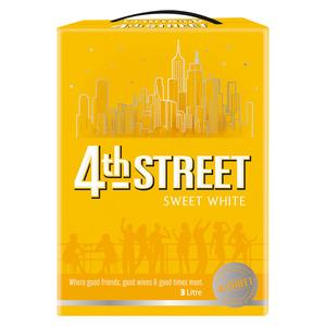 4th Street Sweet White Wine 3 l x 6