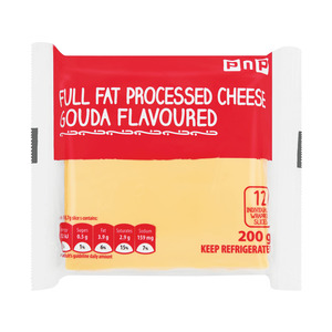 Pnp Full Fat Proc Chs Gouda Slices 200g