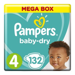 Pampers Active Baby Maxi Meg a Pack Size 4 132ea