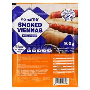 No Name Smoked Viennas 500 Gr