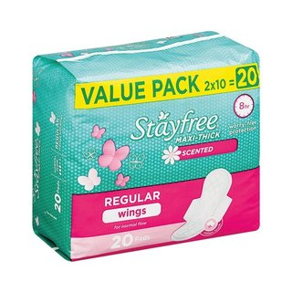 Stayfree Pads Maxi Thick Wings Scented 8ea x 4