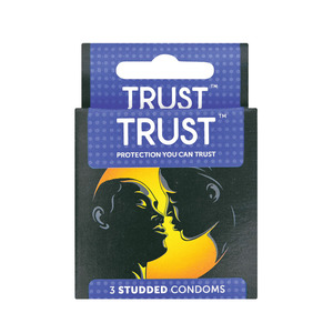 Trust Studded Male Condoms 3ea