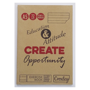 Croxley A5 Jd173 72 Page Fei nt Exercise Book