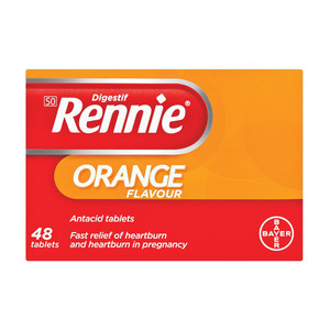 Rennie Antacid Tabs Orange 48ea