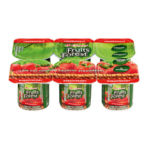 Dairybelle Fruits of the Forest Low Fat Strawberry Yoghurt 6s