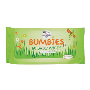 Bumbies Baby Wipes Refill 60