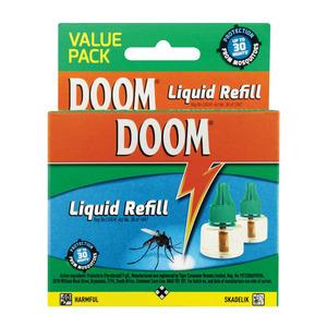 Doom Insect Repellent Liquid Refill 2 Ea