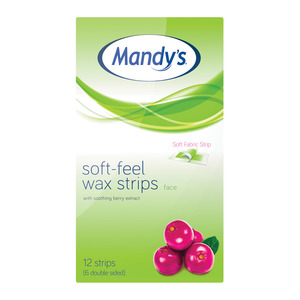 Mandy's Soft Feel Wax Strip Face 12ea