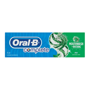 Oral B Complete Mouthwash & Whitening Toothpaste 75ml