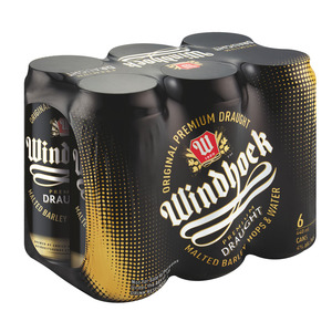 Windhoek Draught Can 440 ml x 6