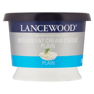 Lancewood Medium Fat Plain Cream Cheese 230g