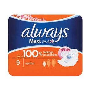 Always Maxi Plus Fresh 9