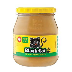 Black Cat Crunchy Peanut Butter No Sugar & Salt 400g