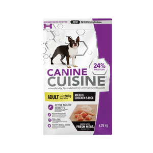 Canine Cuisine Dog Food Adult Small Bree Chicken and Rice 1.75kg