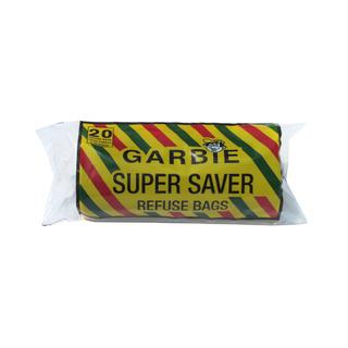 Garbie Super Saver Refuse Bags Black 750mm x 950mm 20ea x 25