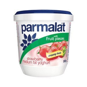 Parmalat Low Fat Strawberry Fruit Yoghurt 500g