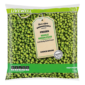 No Name Frozen Green Peas 1kg x 12