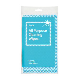 PnP Cleaning Wipes Blue 6ea
