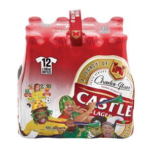 Castle Lager Bottle NRB 340ml  12ea