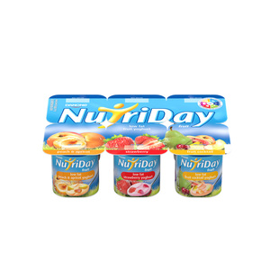 Danone Nutriday Strawberry Fruit Cocktail & Apricot Yoghurt 6s