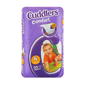 Cuddlers Comfort Diapers Size 4 8-14kg 50s