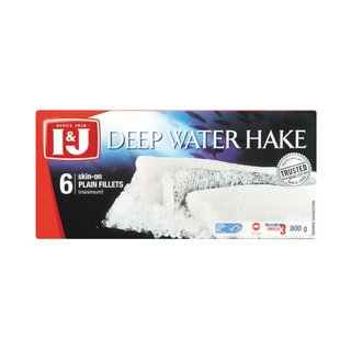 I&J Deep Water Hake Fillets 800g x 12
