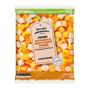 PnP Butternut And Sweet Potato Chunks 1kg