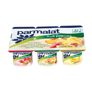 Parmalat Low Fat Assorted Fruit Yoghurt 6s