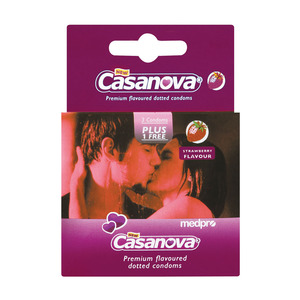 Casanova Strawberry Condoms 4ea