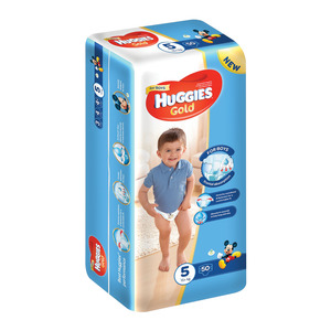 Huggies Gold Boy 15+kg Size 5 50s