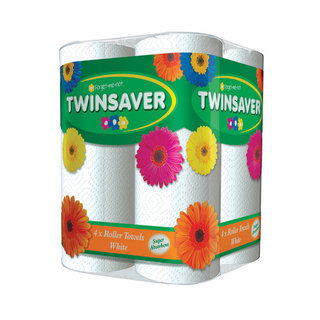 Twinsaver White Roller Towels 4ea x 6