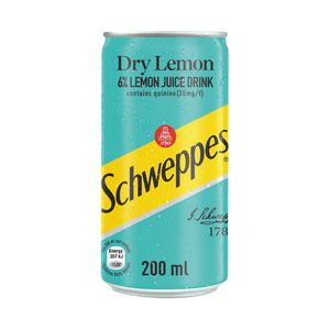 Schweppes Dry Lemon Can 200ml