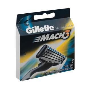 Gillette Mach 3 Razor Blades 8s x 10