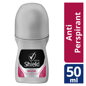 Shield Men Anti-Perspirant Roll-On Musk 50ml x 6
