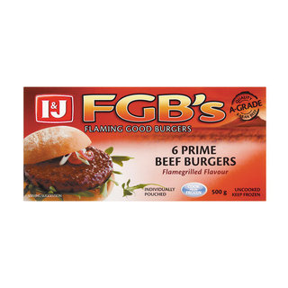 I$J Frozen Flaming Good Burgers 500g x 12