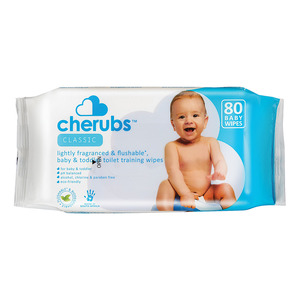 Cherubs Moist Baby Wipes Refill Pack 80s